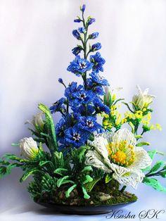 Цветы из бисера фото. Цветочные композиции из бисера | 3vision - Fashion blog