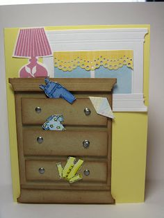 Very cute. I love the window behind the dresser. Might try this one.
