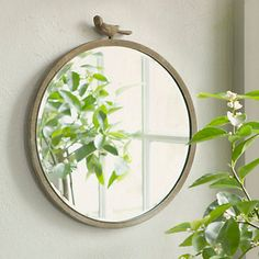 Antiqued Bird Mirror from Terrain