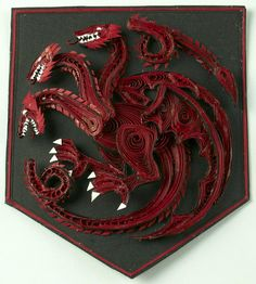 Jaw Dropping Awesome Set of House Sigils Handmade through Paper Quilling by Aimie Holdorf >> Available here