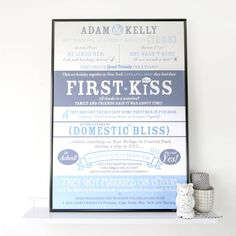 Personalised 'Love Story' Print from notonthehighstreet.com