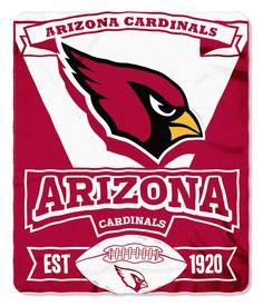 Arizona Cardinals 50x60 Fleece Blanket - Marque Design