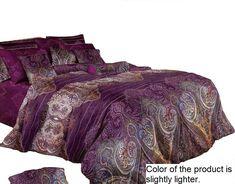 Swanson Beddings Purple Paisley Duvet Bedding Set: Duvet Cover and Two Pillow Shams (Queen) Purple And Teal Bedding, Plum Bedding, Duvet Bedding Sets, Comforters, Bedroom Colors, Bedroom Decor, Bedroom Inspo, Bedroom Inspiration, Toddler Girl Bedding Sets