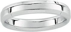 14K White Gold Men's Wedding Band.    http://www.thediamondstore.com/products/men's-wedding-rings/14k-white-gold-mens-wedding-band-%7C-50672/7-617