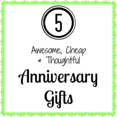 thoughtful and inexpensive anniversary gift ideas