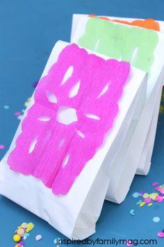 Cinco de Mayo Party Favor Bags & Papel picado how to