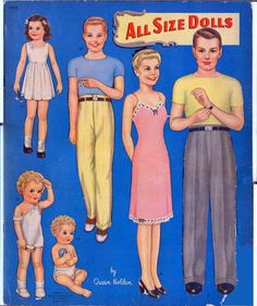 All Size Dolls by Queen Holden (1 of 10), 1945 Whitman #982  |  The Recortables of Veva and Isabel