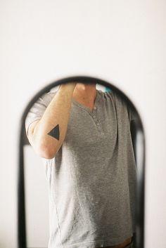 Awesome Black Triangle Arm Tattoo http://tattoos-ideas.net/awesome-black-triangle-arm-tattoo/ Arm Tattoos, Geometric Tattoos