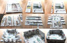 Paper Crafts..newspaper basket