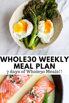 You Have Meals Poisoning More Normally Than You're Thinking That Weekly Menu Plan - A Weeks Worth Of Breakfast, Lunch, Dinner And Snack Whole30 Dinner Recipes, Paleo Recipes, Whole Food Recipes, Paleo Meals, Fit Meals, Paleo Food, Keto Meal, Free Recipes, Yummy Food