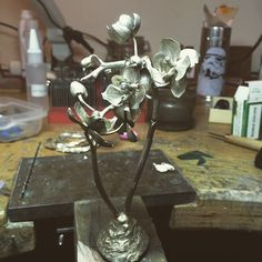 Les Fleurs du Mal! Natural Cast of a Orchid! #jonathanjohnsonjewelry #sundaydreams #workinprogress #wip