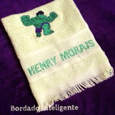 #bordadointeligente #bordadocomputadorizado #embroidery #bordado #personalized #personalizado #hulk #superheroes #henry