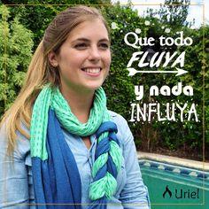 A empezar el finde con muy buena onda! Y con este pañuelo trenzado divino! www.instagram.com/uriel.mujer