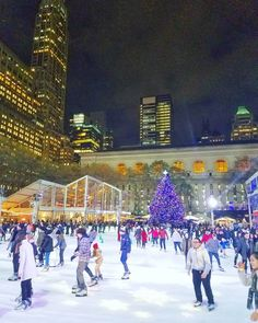 Skating one of the must dos for winter. However if you really know how to skate maybe go somewhere else than Bryant Park. The ice is a little too packed with slow and unsure skaters to practice your pirouets and hockey stops. (via Instagram)