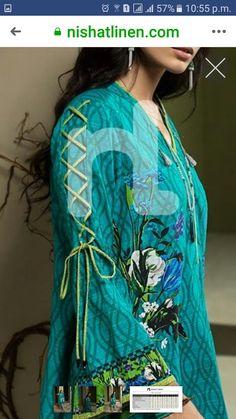 BakhtawerBokhari Salwar Designs, Kurti Neck Designs, Kurta Designs Women, Dress Neck Designs, Kurti Designs Party Wear, Blouse Designs, Sleeve Designs, Kurti Sleeves Design, Pakistani Fashion Casual