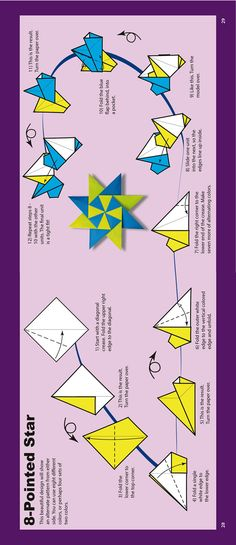 8 Pointed Star tea bag paper folding, I Love tea bag folding, which is what this method of folding is called.
