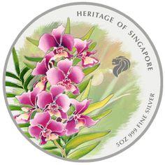 Splendour of Orchid, Lyrics in Batik (minted in 2007 by Singapore Mint)