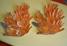 Ecureuil avec mains
