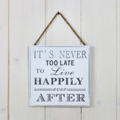 'Happily Ever After' Sign - Lily and moor