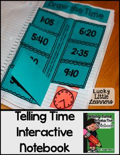 I've got a surprise. I UPDATED my Telling Time Interactive Notebook! Math Classroom, Kindergarten Math, Teaching Math, Interactive Math Journals, Math Notebooks, Math Resources, Math Activities, Telling Time Activities, Second Grade Math