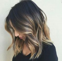 balayage, blonde, brunette, goals, hair, ombre, short hair