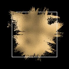 gold foil splatter with white frame on a black background Gold Wallpaper, Gold And Black Background, Gold Background, Gold Foil Texture, Abstract, Black Background Images, Instagram Icons, Instagram Background, Black Background Wallpaper