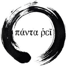 Panta Rei inside an Enso circle
