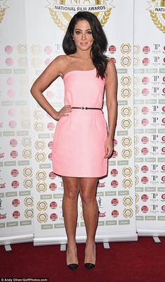 Pretty in pink: Tulisa Contostavlos made a stylish appearance at The National Film Awards ...