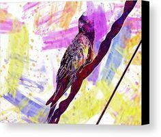 Parakeet Bird Blue Canvas Print / Canvas Art by PixBreak Art Parakeet Bird, Abstract Canvas, Great Artists, Tapestry, Art Prints, Poster, Blue, Painting, Design
