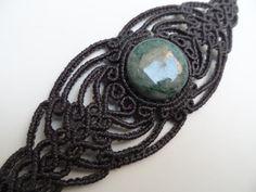 Guatemalan Jade / Jadeite  Macrame bracelet   stone por LaQuetzal