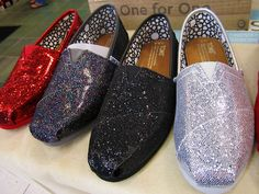 Sparkly Toms!