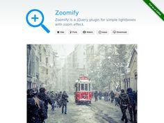 Zoom увеличение изображений, адаптивный плагин jQuery который можно использовать для вёрстки Bootstrap.