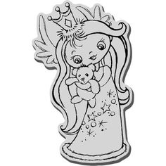 This angel stamp would be perfect for decorating a paper craft or as the center for a new handmade Christmas card. $4.84