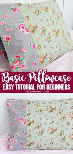 This pillowcase tutorial is so quick and easy that you'll be finding yourself making pillowcases for everyone!  #easypeasycreativeideas #sewing #sewingtutorials #sewingprojects #sewingforbeginners #beginnersewing