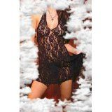 y2 Elegant n Unique - Lace Halter Mini Dress One Size and Queen Plus Size in Black or White (Apparel)By Elegant