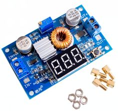 5A 75W XL4015 DC-DC Converter Adjustable Step-Down Module 4.0-38V to 1.25V-36V DIY Adjustable Power Supply //Price: $2.41//     #electonics