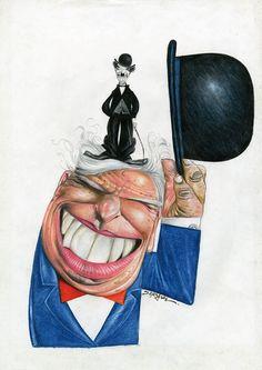 XVIII PortoCartoon, Categoria Caricatura: Charlie Chaplin  3.º Prémio Luiz Carlos Fernandes, Brasil