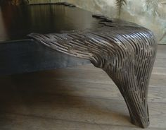 Wrought Iron and leather table by MATTIA FRIGNANI