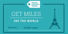Earn hundreds of thousands of frequent flyer miles...without getting on a plane