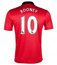Manchester United Jersey 13/14 #10 ROONEY Home Soccer Jerseys Nike Red