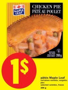 Coupons et Circulaires: 3$ : 3 Patés au Poulet MAPLE LEAF + Produit PRIME ...