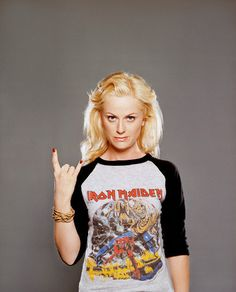 Amy Poehler, metal icon? \m/
