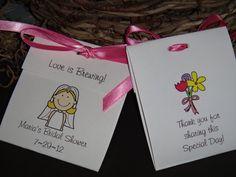 Bride Cartoon Personalized Tea Bag Favors