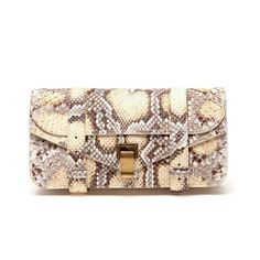 PROENZA SCHOULER 'Ps1' Python Clutch Bag ($1,510) ❤ liked on Polyvore
