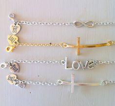 Thin metal chain bracelet
