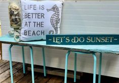 Inexpensive & Easy DIY Exterior Benches Diy Exterior, Small Bench, Metal Stool, White Spray Paint, Nautical Home, Old Quotes, Wedding Show, Wood Screws, How To Do Yoga