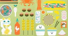 illustrations of asian food - Google Search