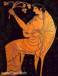 Hestia, goddess of the hearth | Greek vase, Athenian red figure kylix
