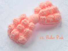 Crochet hair bow / knit bow. . Many colour options. Clip or elastic band finish option. on Etsy, £6.00