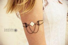 banda de brazo brazalete cadena bronce oro por SlaveBraceletAndMore, €13.00